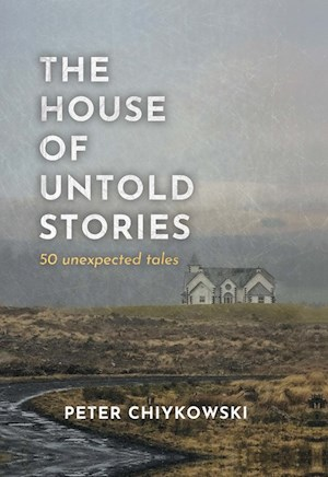 Book cover showing a mysterious house alone on a hill.
